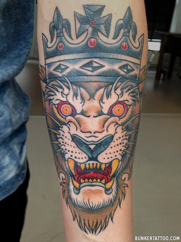 Lion king tattoo \u2013 Bunker Tattoo \u2013 Quality tattoos
