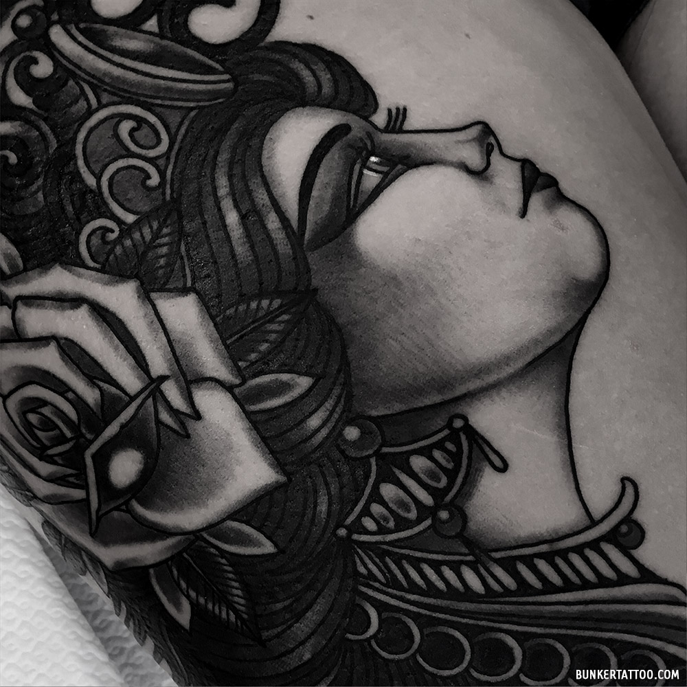 Neotrad Girl Close Up Bunker Tattoo Quality Tattoos