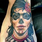 neotraditional girl tattoo