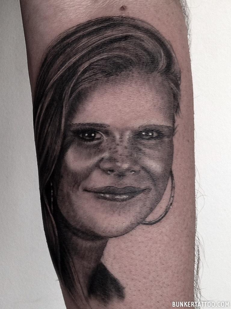 Realistic Portrait Tattoo Bunker Tattoo Quality Tattoos
