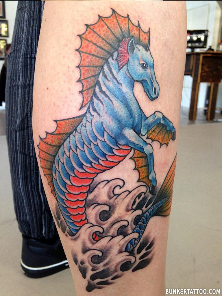 Seahorse Tattoo Bunker Tattoo Quality Tattoos