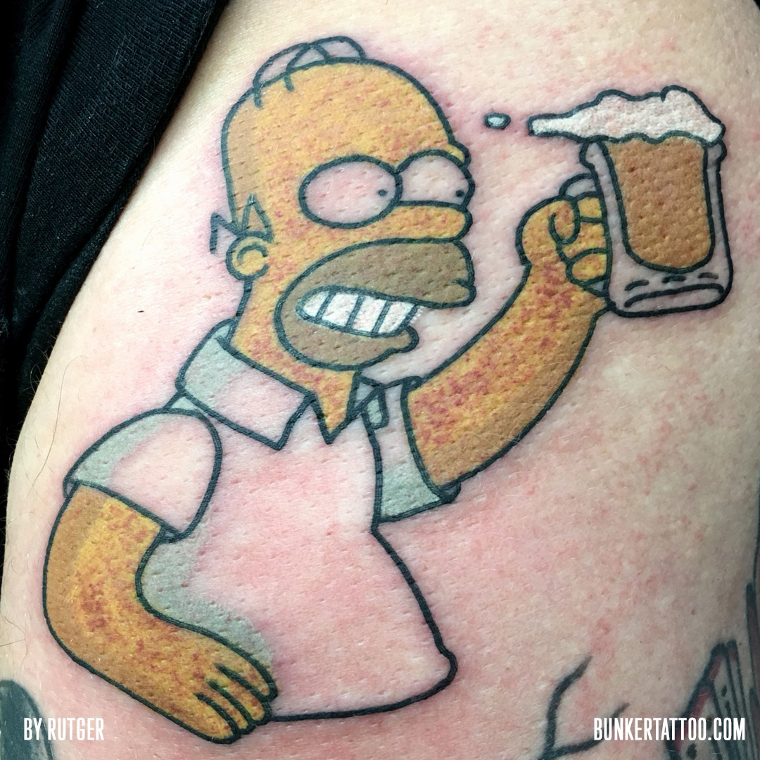 Tattoo inspiration bunker tattoo quality tattoos for Homer simpson tattoos